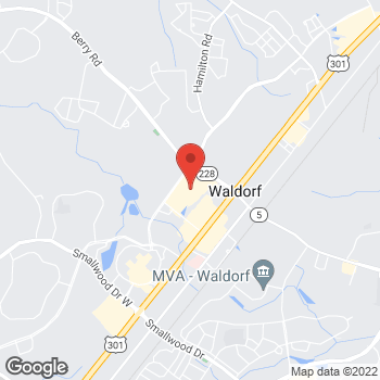 Map of Hair Cuttery at 3045 Waldorf Market Pl, Waldorf, MD 20603