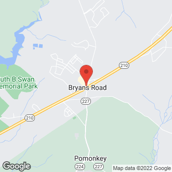 Map of Burger King at 3165 Marshall Hall Rd, Bryans Road, MD 20616