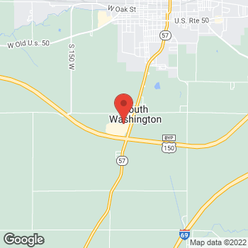 "Map of <span class=""LocationName"" itemprop=""name"" id=""location-name""><span class=""LocationName-brand"">AT&amp;T Store</span> <span class=""LocationName-geo"">Washington</span></span> at 1735 S State Rd 57, Washington, IN 47501"