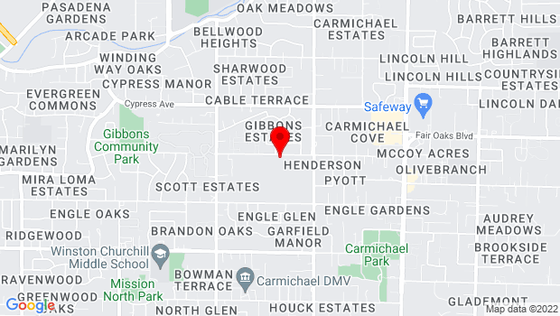 Google Map of 5330-B Gibbons Drive, Carmichael, CA 95608