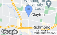 Map of Clayton, MO