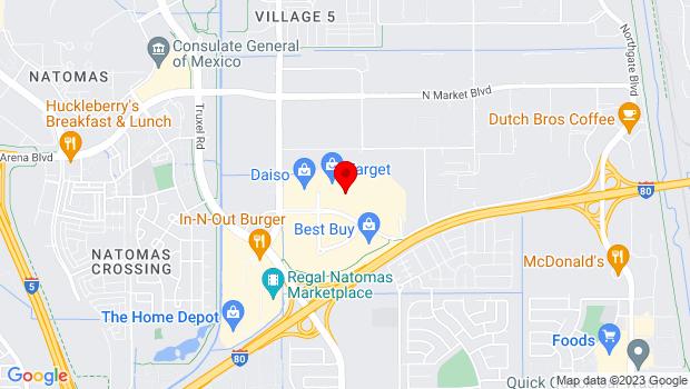 Google Map of 3648 North Freeway Blvd, Sacramento, CA 95834