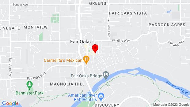 Google Map of 7997 California Ave., Fair Oaks, CA 95628
