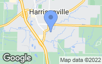 Map of Harrisonville, MO