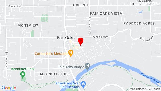 Google Map of 4238 Main St., Fair Oaks, CA 95628