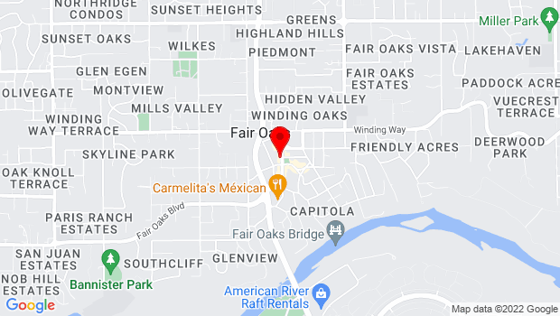 Google Map of 10219 Fair Oaks Blvd., Fair Oaks, CA 95628