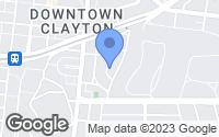 Map of Clayton, MO