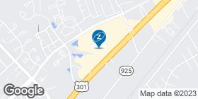 map showing La-Z-Boy store location in Waldorf, MD