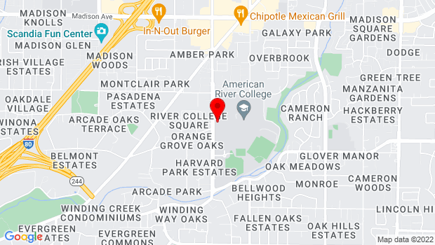 Google Map of 4700 College Oak Drive, Sacramento, CA 95841