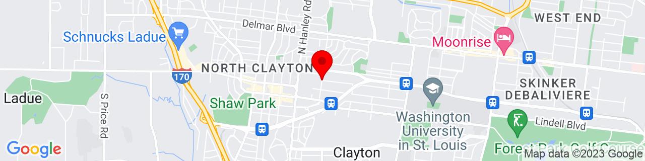 Google Map of 38.6521455, -90.329662