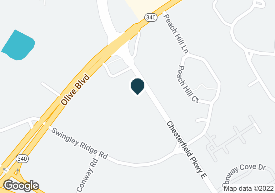 Google Map of917 CHESTERFIELD PKWY E