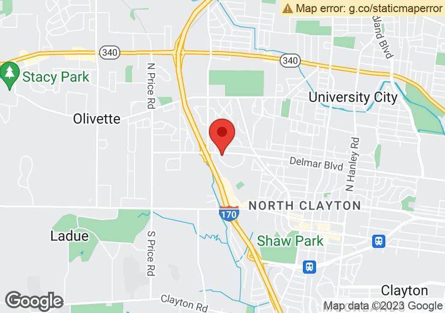 Google Map of 8390 DELMAR BLVD
