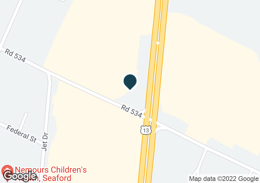 Google Map of22898 SUSSEX HWY
