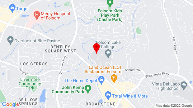 Google Map of 10 College Parkway, Folsom, CA 95630