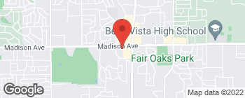 Map of 7840 Madison Ave in Fair Oaks