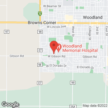 Map of Dignity Health Medical Foundation - Woodland and Davis at 632 W Gibson Rd, Woodland, CA 95695