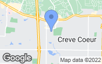 Map of Creve Coeur, MO