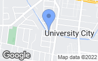 Map of University City, MO