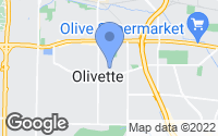 Map of Olivette, MO