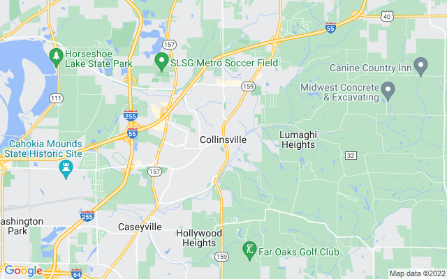 Collinsville on the map