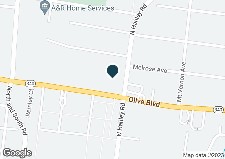 Google Map of7501 OLIVE BLVD