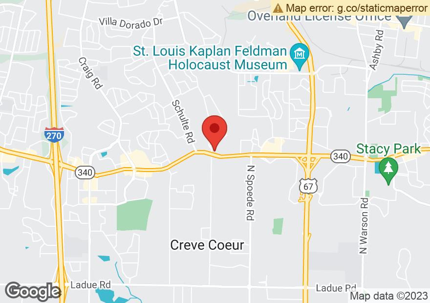 Google Map of 10941 OLIVE BLVD