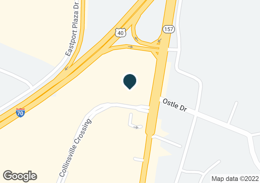Google Map of1190 COLLINSVILLE CROSSING BLVD