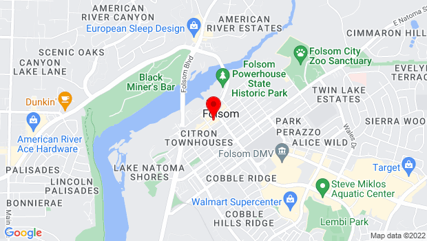 Google Map of 717 Sutter Street, Folsom, CA 95630