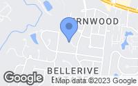Map of Creve Coeur, MO