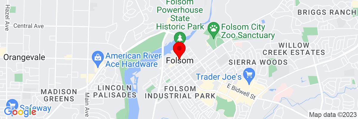 Google Map of 38.677959166667,-121.17605833333