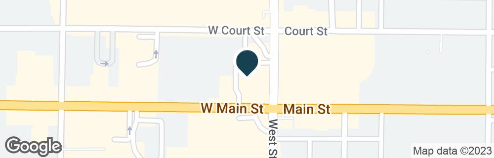 Google Map of10 W MAIN ST