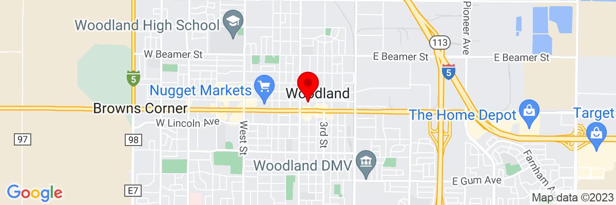 Google Map of 38.678515833333,-121.77329722222