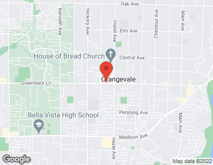 Map of 8841 Greenback Ln in Orangevale