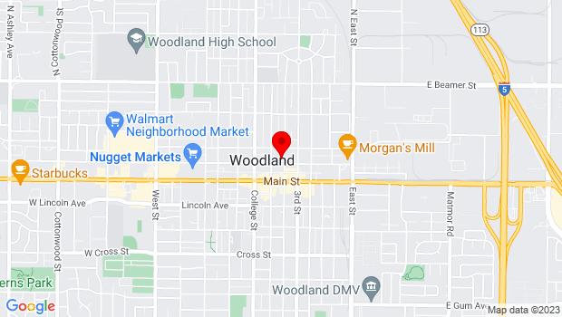 Google Map of 625 Court St, Woodland, CA 95695