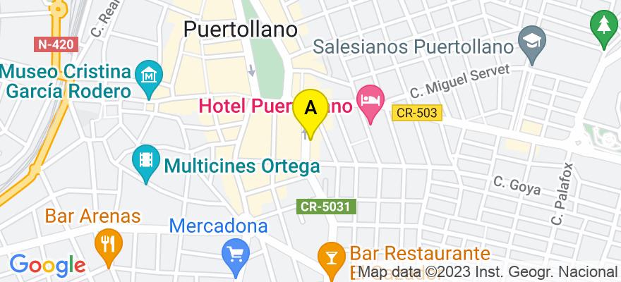 situacion en el mapa de . Direccion: Calle Gran Capitán nº 3, 1º B, 13500 Puertollano. Ciudad Real