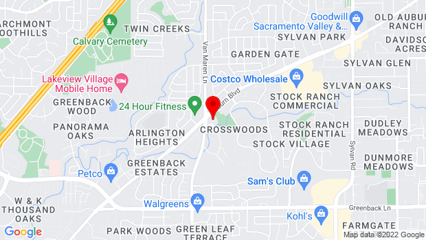 Google Map of 6700 Auburn Boulevard, Citrus Heights, CA 95621