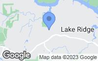 Map of Woodbridge, VA