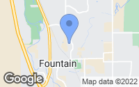 Map of Fountain, CO