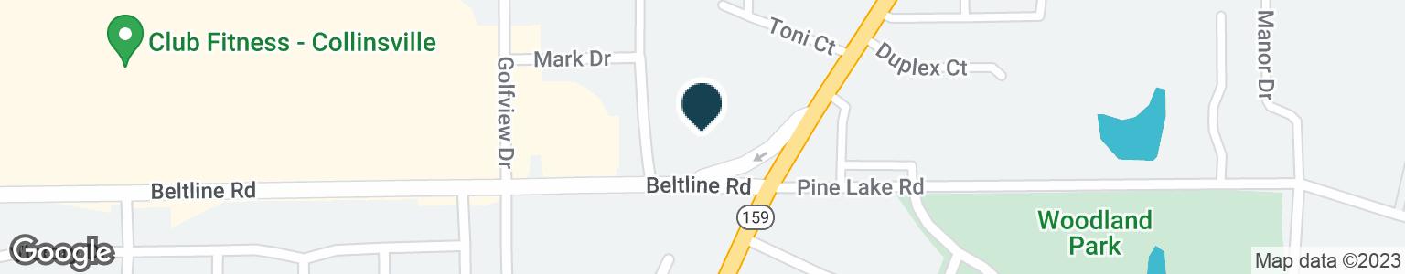 Google Map of401 BELT LINE RD