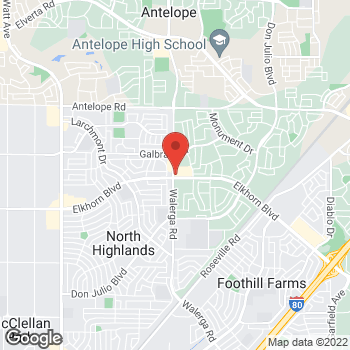 Map of Arby's at 4301 Elkhorn Blvd, Sacramento, CA 95842