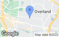Map of Overland, MO