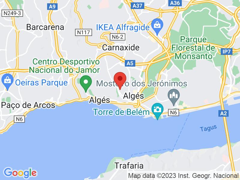 Imagem Google Maps da nossa localização