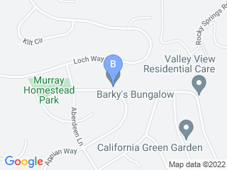 Map of Barkys Bungalow Dog Boarding options in El Dorado Hills | Boarding