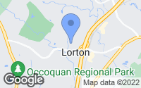 Map of Lorton, VA