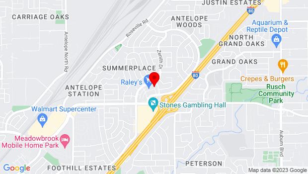 Google Map of 7867 Lichen Dr., Citrus Heights, CA 95621