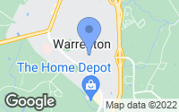 Map of Warrenton, VA