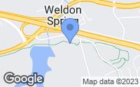 Map of Weldon Spring, MO