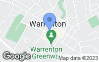 Map of Warrenton, VA
