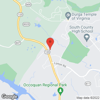 Map of Hair Cuttery-Closed at 8971 Ox Road Suite 180, Lorton, VA 22079