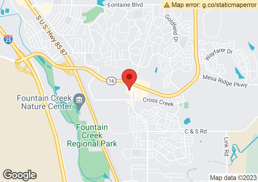 Google Map of 7910 FOUNTAIN MESA RD